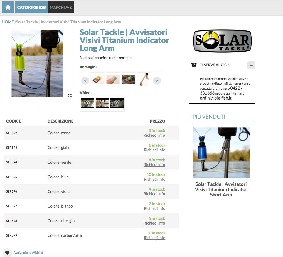 Pagina prodotto ecommerce nelle vendite B2B