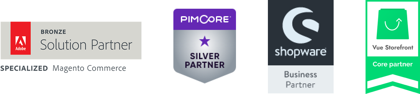 Esse Solutions partner certificato Magento, Pimcore, Vue Storefront e Shopware